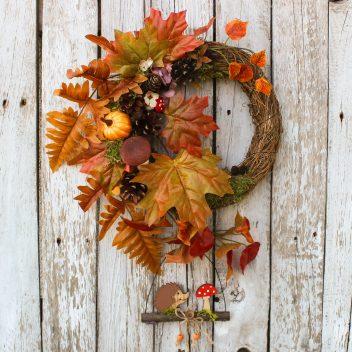 Wianek jesienny na drzwi nr. 14