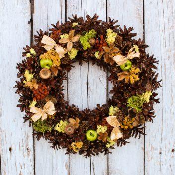 Wianek jesienny na drzwi nr. 40