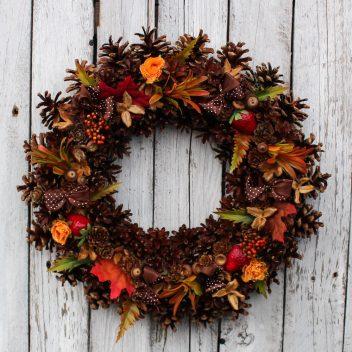 Wianek jesienny na drzwi nr. 38