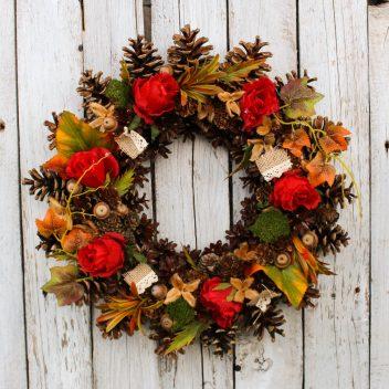 Wianek jesienny na drzwi nr. 46