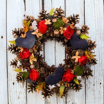 Wianek jesienny na drzwi nr. 47