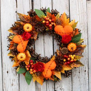 Wianek jesienny na drzwi nr. 48