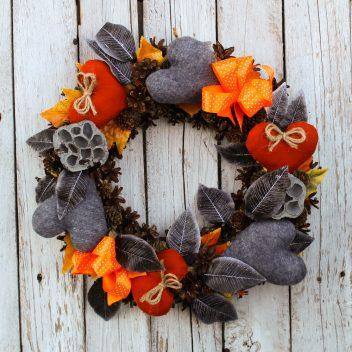 Wianek jesienny na drzwi nr. 50