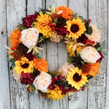 Wianek jesienny na drzwi nr. 52